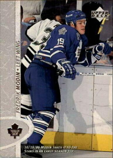 1996-97 Upper Deck Fredrik Modin Rookie