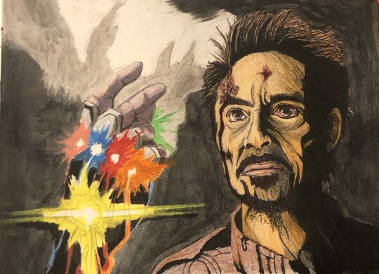 marvel iron man drawing