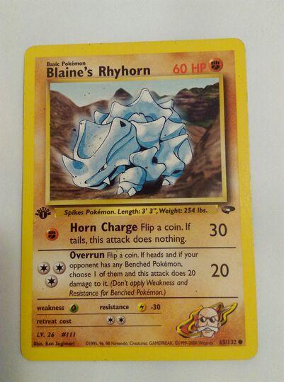 Blaine's Rhyhorn 65/132