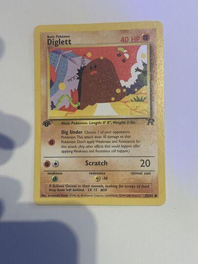 diglett first edition team rocket