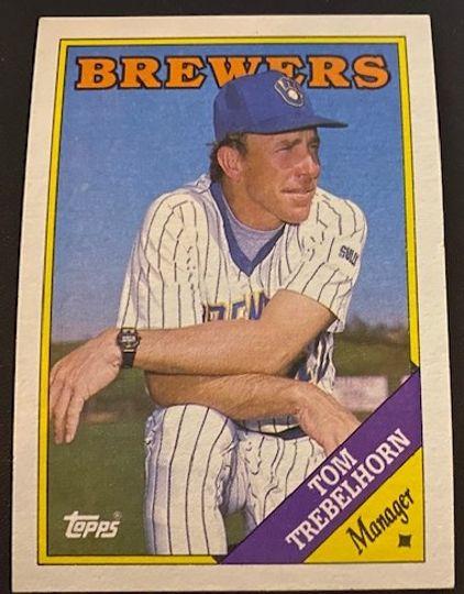 1988 Topps Brewers Tom Trebelhorn 224