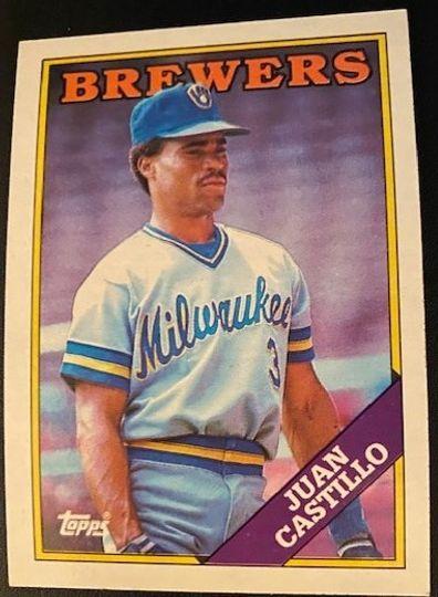 1988 Topps Brewers Juan Castillo 362