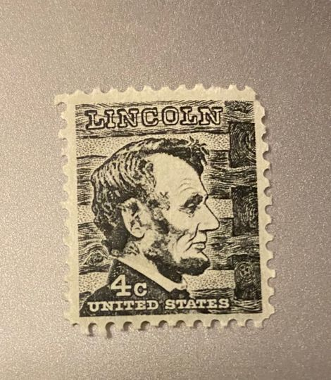 4 cent lincoln stamp