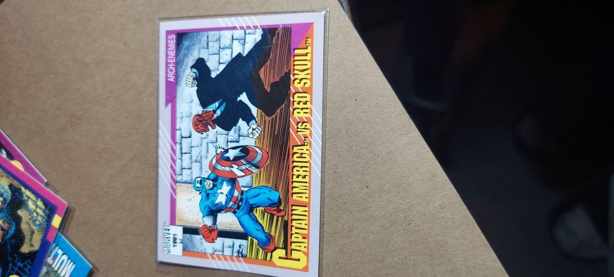 Captain America vs Red Skull Arch Enemies 1991 Marvel