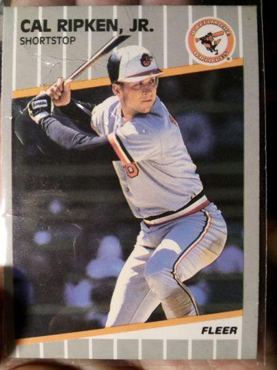 1989 fleer Cal Ripken jr. #617