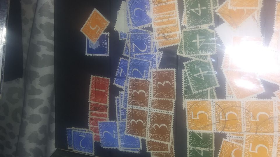 large lot of postage stamps