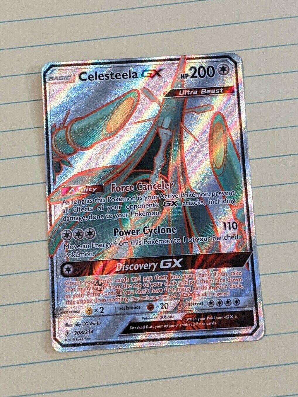 Full Art Ultra Rare Pokemon Unbroken Bonds NM 208//214 Celesteela GX