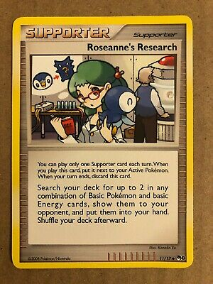 Pokemon Roseanne's Research 11/17 POP Series 8 Near Mint See Pictures