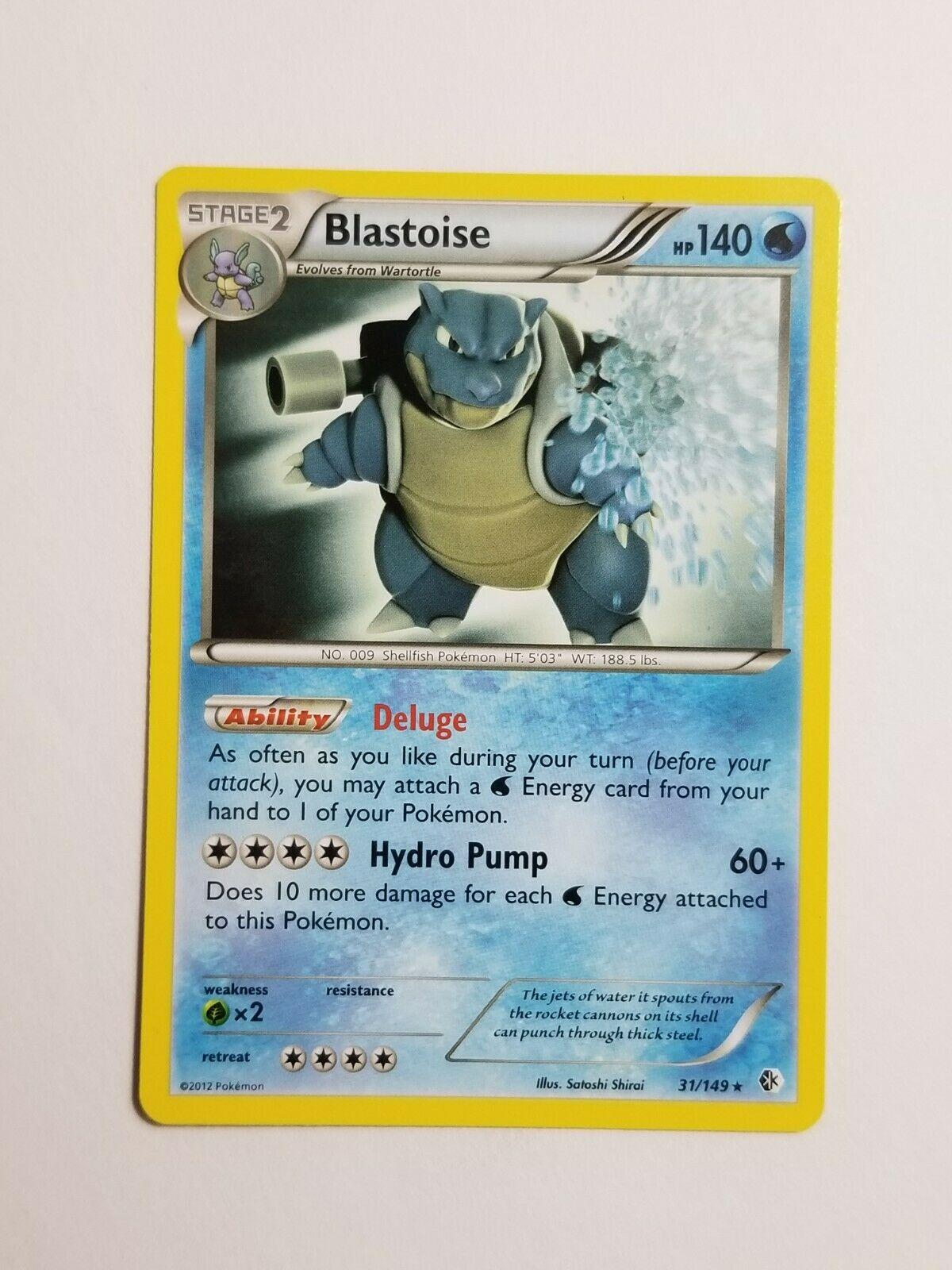 Pokemon Card Boundaries Crossed Rare Blastoise 31//149 FREE SHIPPING!