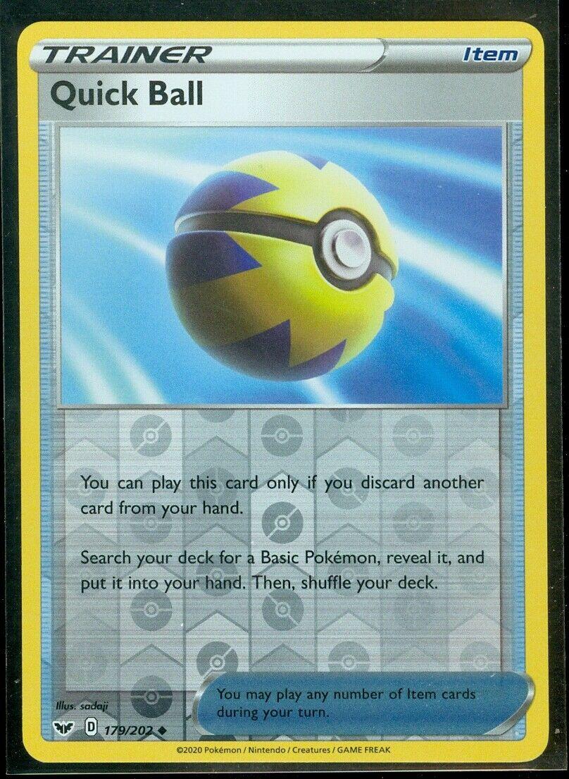 Quick Ball Sword /& Shield Base Set 179//202 4X SWSH01 Uncommon NM