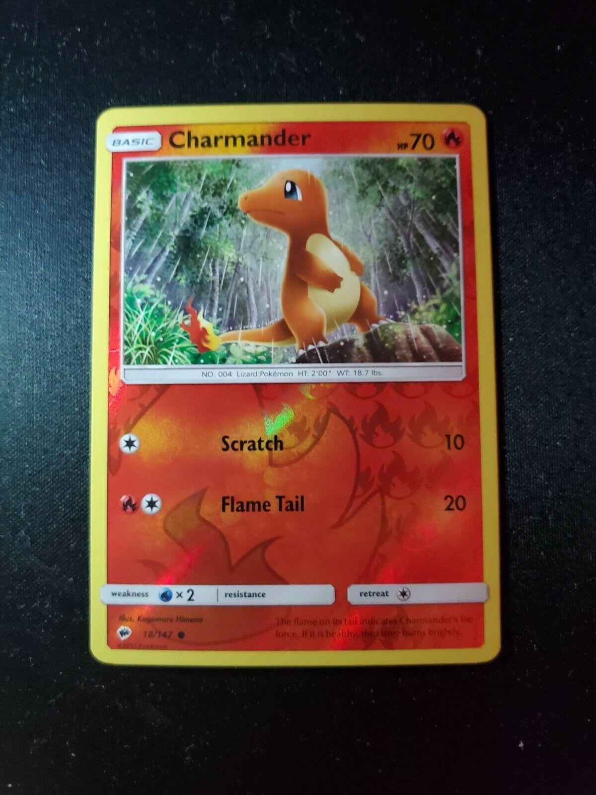 2017 Pokemon Sun /& Moon Burning Shadows 18//147 Charmander-Holofoil Mint