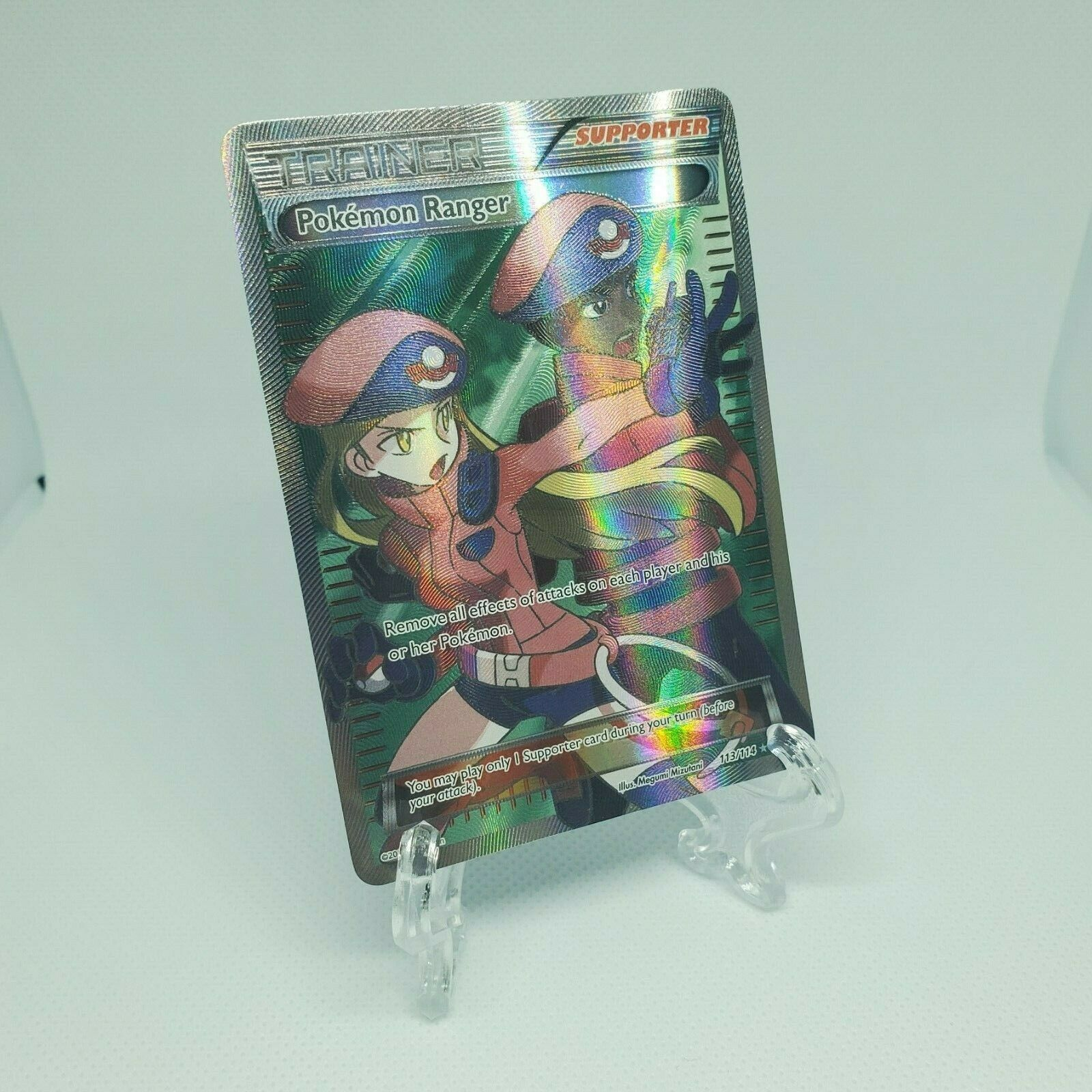 Full Art Pokémon Ranger XY Steam Siege 113//114 Ultra Rare EX-NM-M Pokemon card