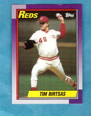 1990 Topps Baseball Card #687 Tim Birtsas Reds - Image 1
