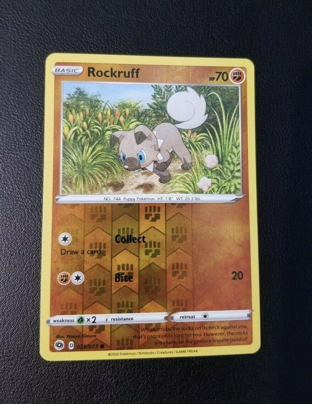 Pokemon TCG Champion/'s Path Rockruff 029//073 Common