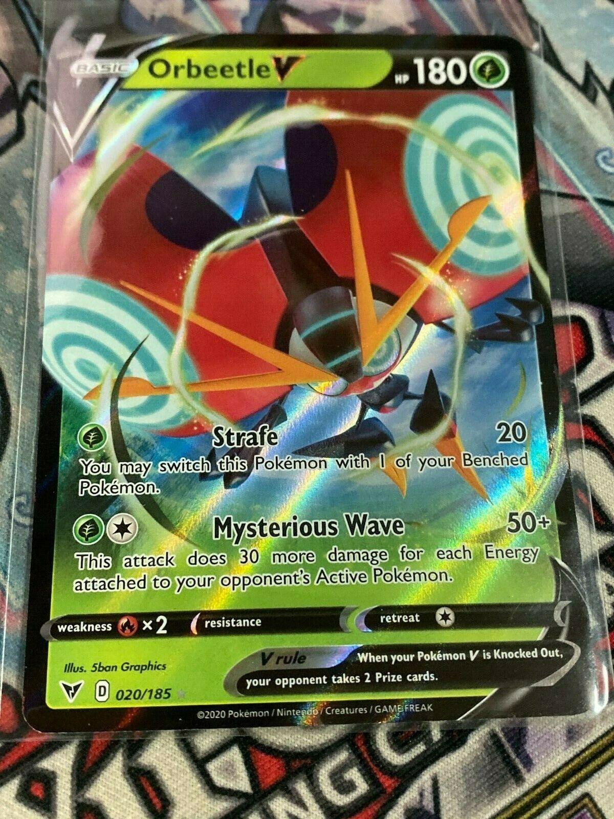 Details about  /Pokemon Orbeetle V 020//185 Holo Ultra Rare Vivid Voltage Near Mint