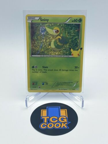Snivy 5/25 Holo 25th Anniversary McDonald's Promo 2021 Pokémon Card