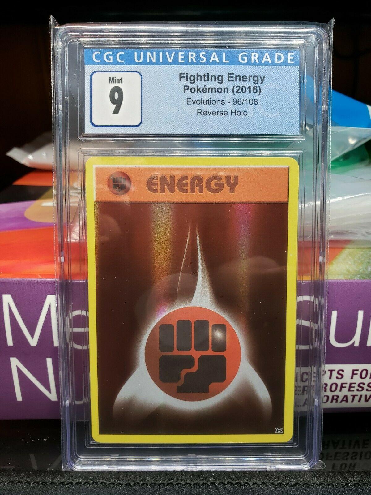 Pokemon Card  FIGHTING ENERGY  REVERSE HOLO  EVOLUTIONS 96//108 ***MINT***