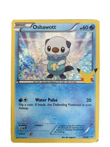 Pokemon McDonald's 25th Anniversary Oshawott 21/25 Holo Promo Card 2021 Hologram