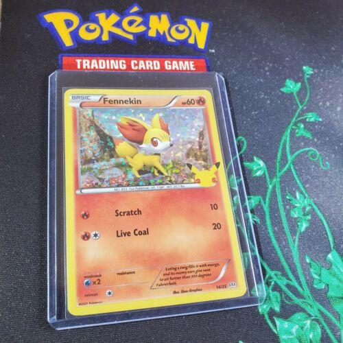 Fennekin McDonald's Pokemon Promo HOLO Card 14/25 - 25th Anniversary  🔥