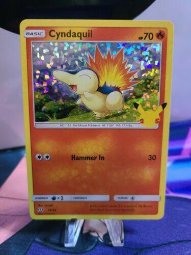 McDonald's 25th Anniversary Pokemon card # 10/25 HOLO Cyndaquil - Image 1