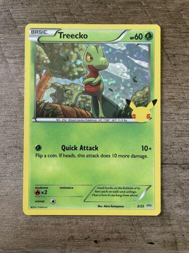 Treecko - 3/25 - Holo McDonald's 25th Anniversary Promos Pokemon Card NM - Image 1