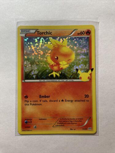Pokemon Torchic 11/25 HOLO McDonald's 25th Anniversary Stamped Promo Card NM