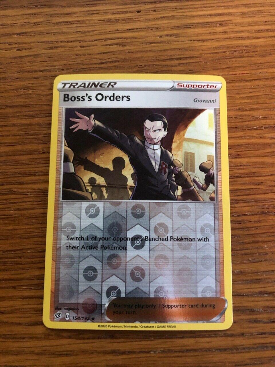 M 3x Lot Boss/'s Orders 154//192 Pokemon Cards Rebel Clash Reverse Holo Rare NM