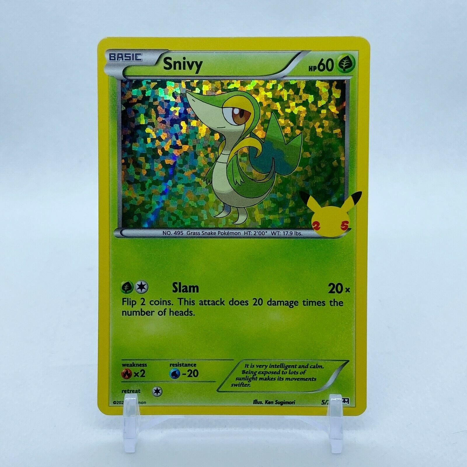Snivy - 5/25 Mcdonald's Promo 25th Anniversary Holo Starter Pokemon - MINT