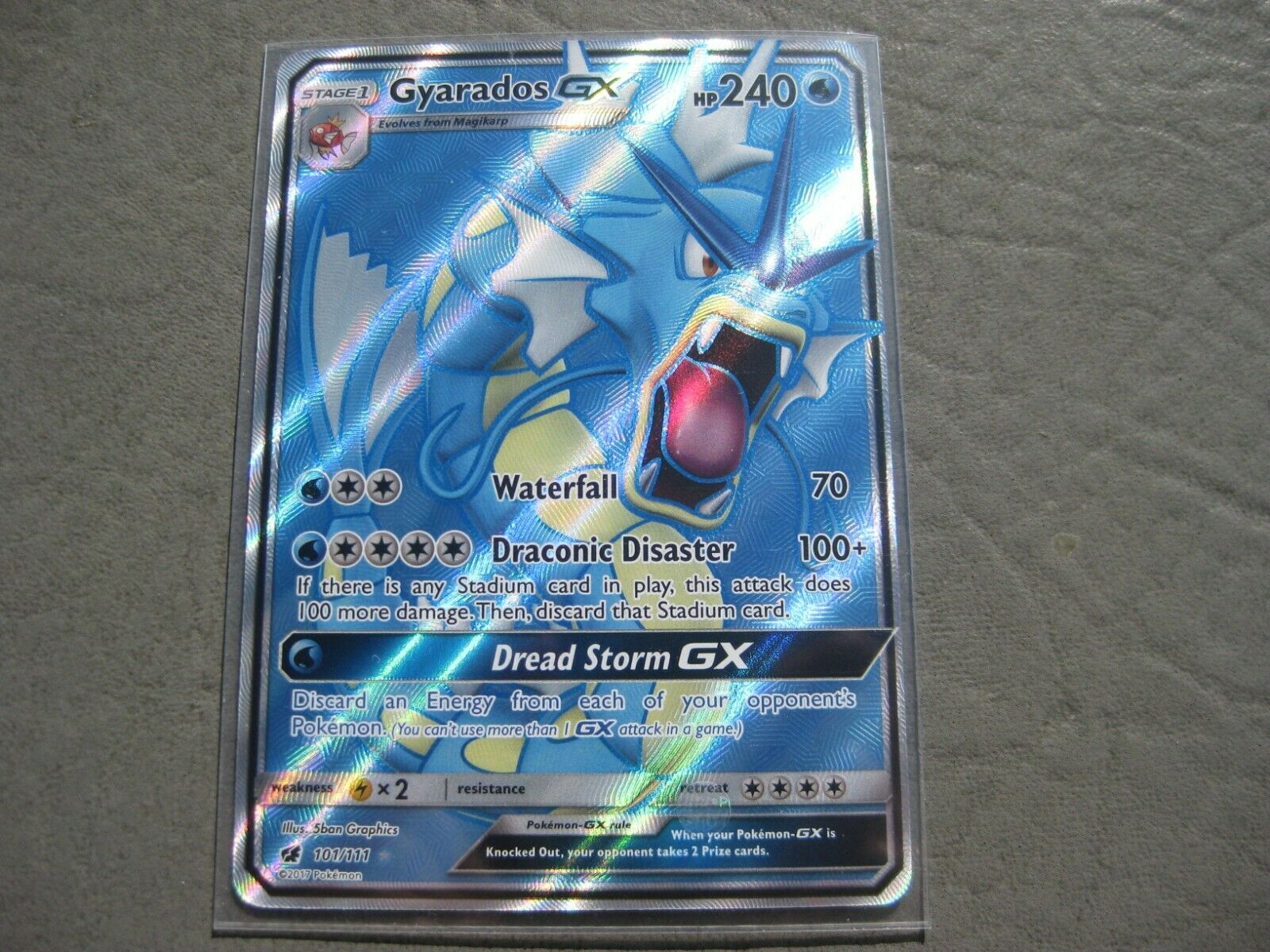 Pokemon Card GYARADOS GX  Ultra Rare FULL ART 101//111 CRIMSON INVASION *MINT