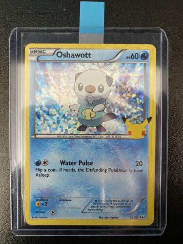Pokemon McDonald's 25th Anniversary Oshawott 21/25 HOLO Card 2021
