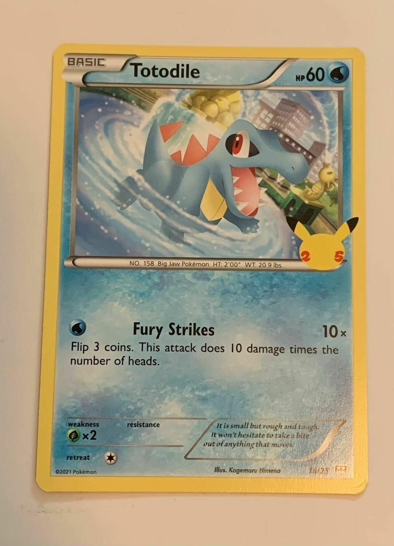 Totodile 18/25 Non-Holo - McDonald's Pokemon Promo Card - 25th Anniversary