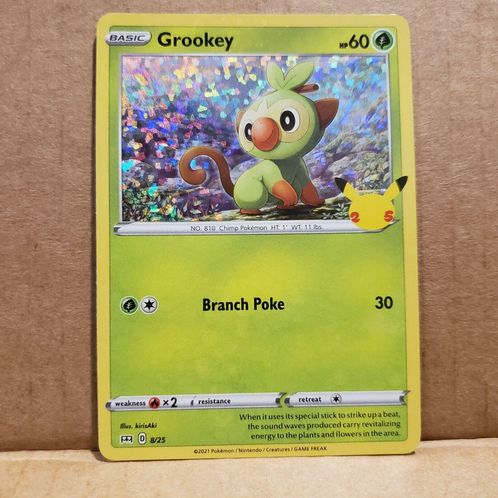 Grookey Holo 8/25 McDonald's 25th Anniversary Set Pokemon Card