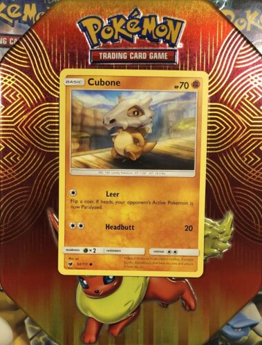 Cubone   52/111 S&M: Crimson Invasion Common Mint/NM Pokemon - Image 1