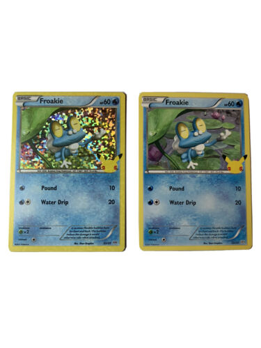 Pokemon Froakie 22/25 Holo and Non Holo 25th Anniversary McDonald's Promo Cards