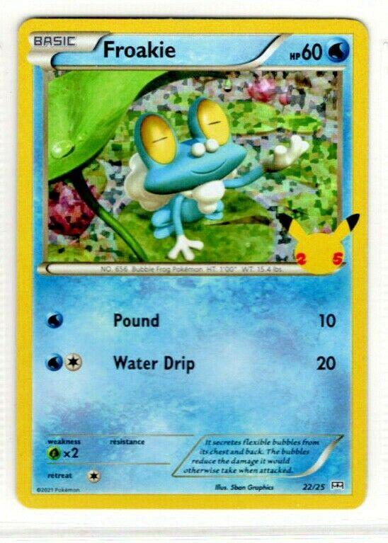 2021 McDonald's Pokemon 25th Anniversary - Froakie Foil Card 22/25