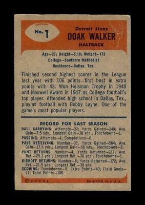 1955 Bowman Set Break # 1 Doak Walker VG-VGEX *GMCARDS* - Image 2