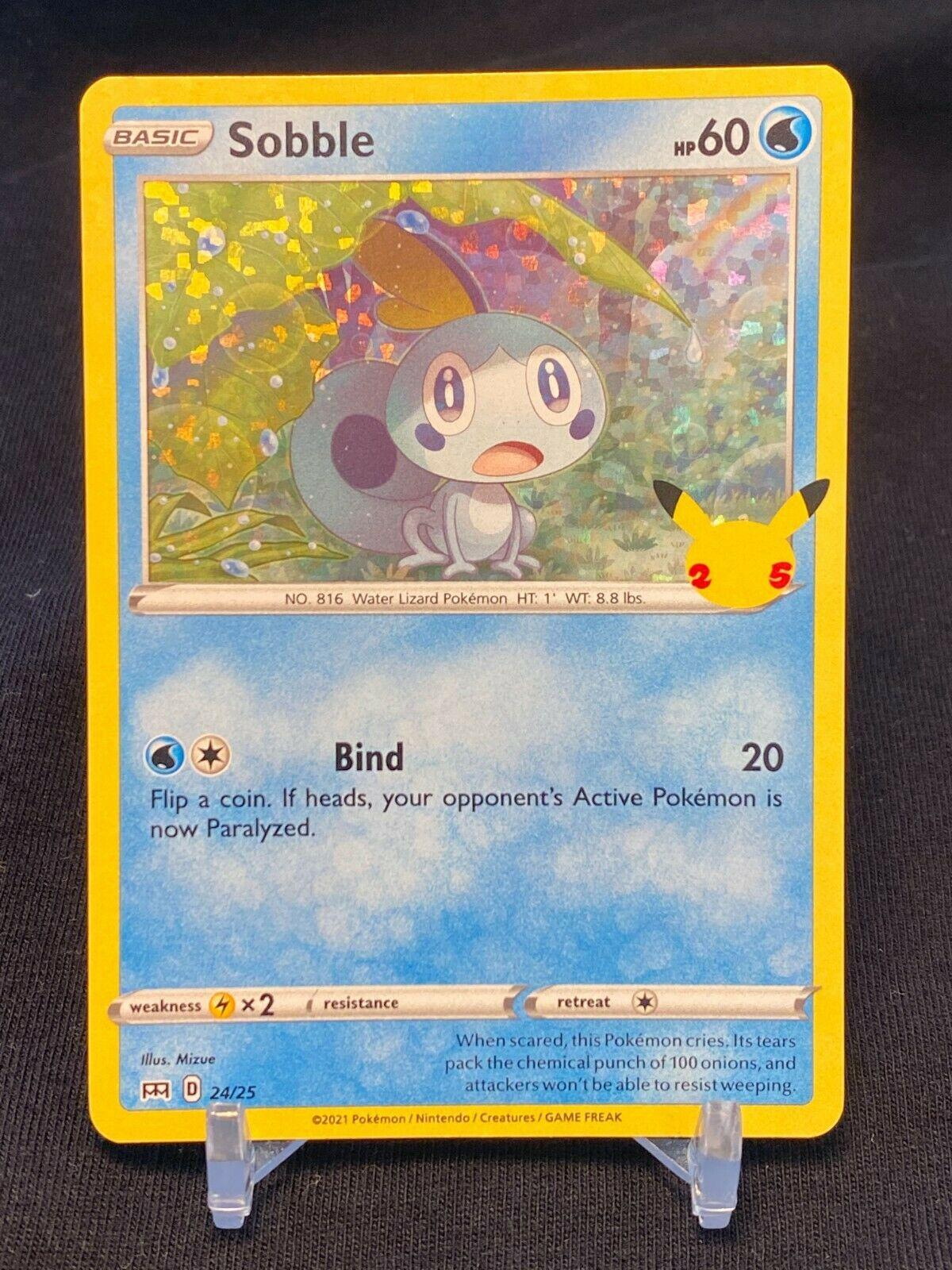 Pokemon Sobble 24/25 HOLO McDonald's 25th Anniversary Stamped Promo Card - NM+