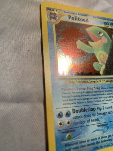 Pokemon 2001 Neo Discovery POLITOED Holo 8/75  - VERY LIGHTLY PLAYED  - Image 2