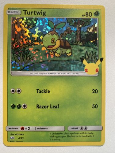 Pokemon Holo McDonald's 25th Anniversary Turtwig 4/25