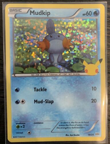 Mudkip 19/25 - Pokemon 25th Anniversary - McDonald's Stamped HOLO Promo NM/M