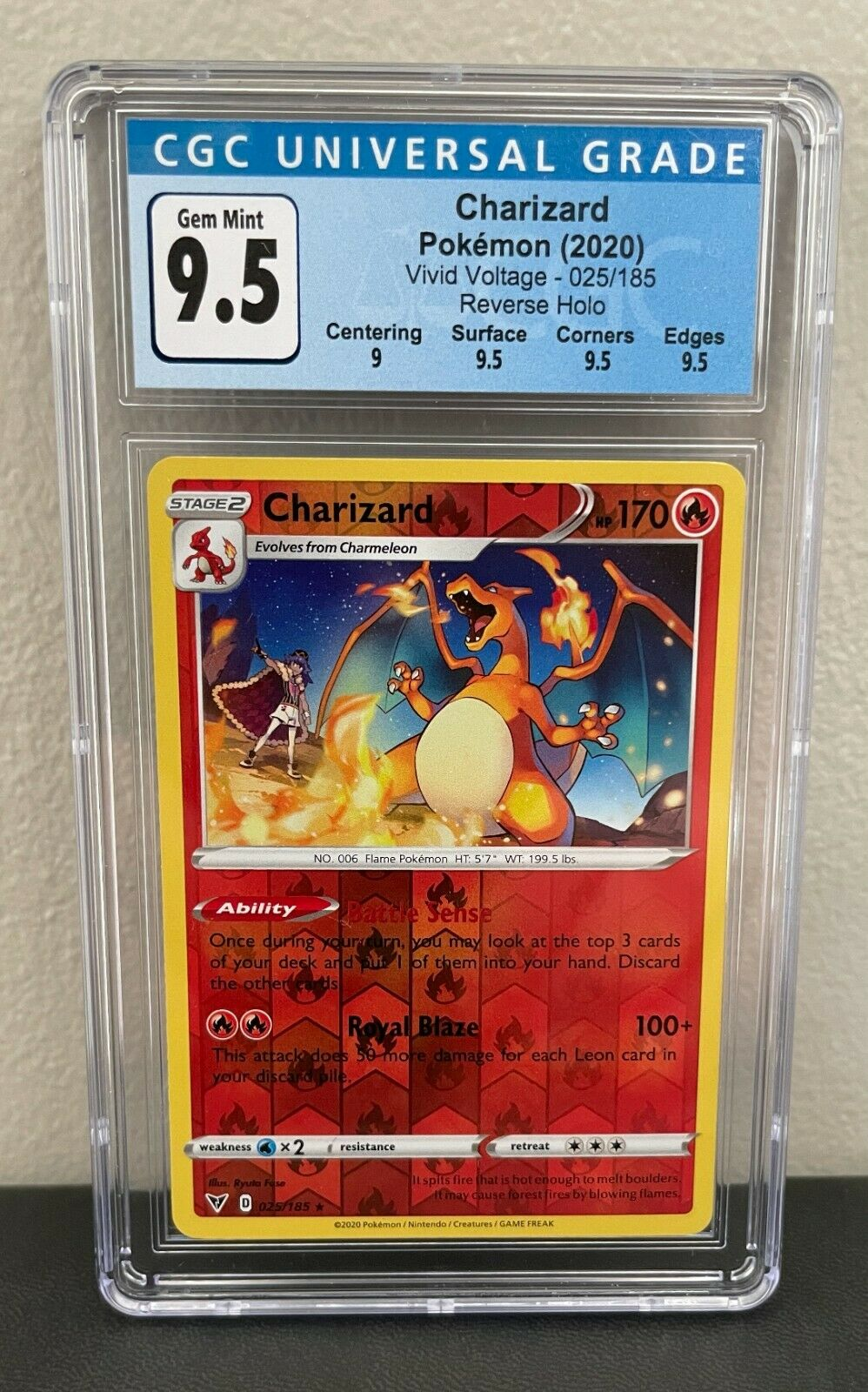 Details about  /Pokemon Vivid Voltage Charizard 025//185 NM//M Non-Holo