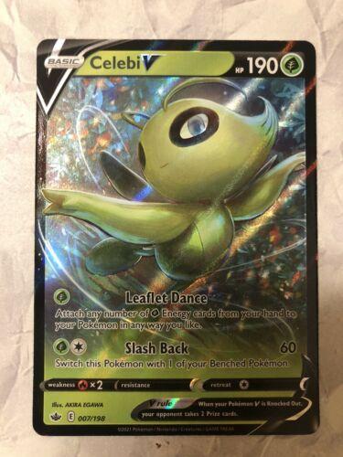Pokemon TCG Celebi V 007/198 Chilling Reign possible PSA 9 - 10 Fresh Pull - Image 1