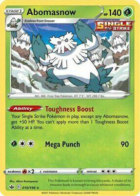 x4 Abomasnow - 010/198 - Rare Pokemon SS06 Chilling Reign M/NM