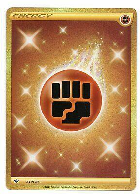 Pokemon Fighting Energy 233/198 Gold Secret Rare Chilling Reign NEW IN-HAND