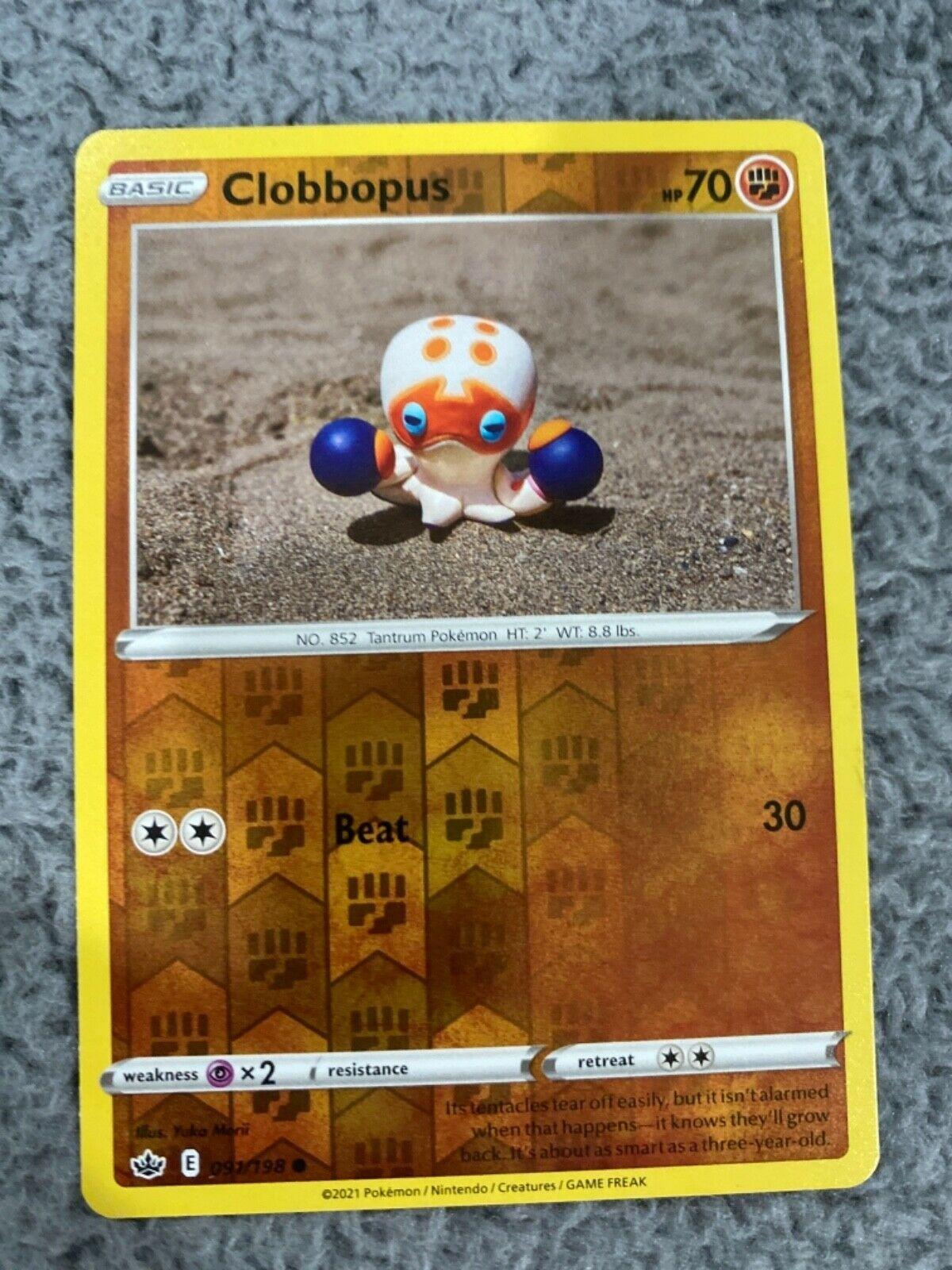 Clobbopus - 091/198 - Common - Reverse Holo Pokemon SS06 Chilling Reign M/NM