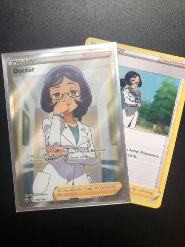 IN-HAND Pokemon Card Doctor Full Art Ultra Rare (190/198) - Chilling Reign NM - Image 1