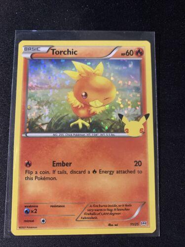 Pokemon 2021 McDonald's 25th Anniversary HOLO Promo Torchic 11/25