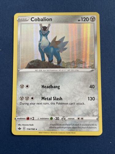 x1 Cobalion - 114/198 - Holo Rare Pokemon SS06 Chilling Reign M/NM