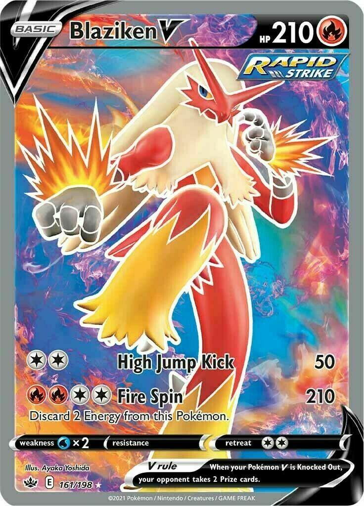 Pokemon - Blaziken V - 161/198 - Chilling Reign - Full Art
