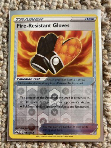 Fire-Resistant Gloves 138/198 - Reverse Holo - Pokemon Chilling Reign - Mint